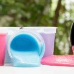 Bottles of Homemade Play Slime